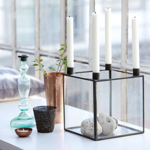 Zinc Candle Holder - candles & candle holders