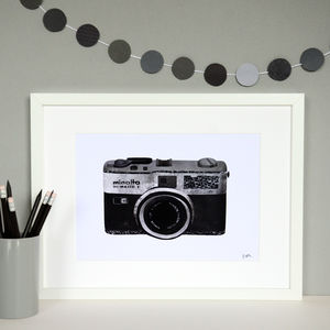 Retro Camera Collage Print - posters & prints