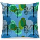 Mid Century Trees In Blue Cushion + Waterproof