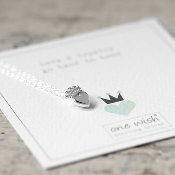 Claddagh Sterling Silver Heart Necklace