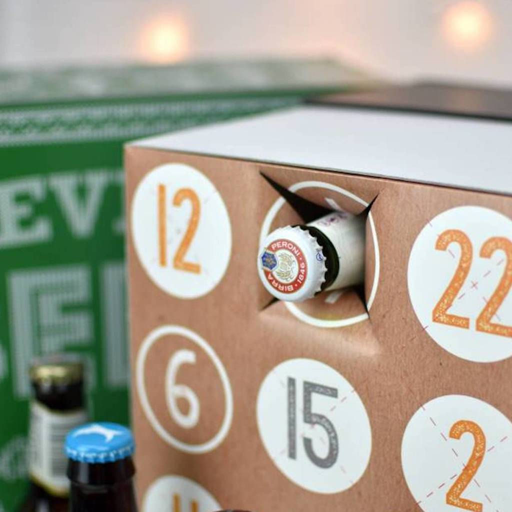 Personalised Name Beer Advent Calendar Box By Thelittleboysroom