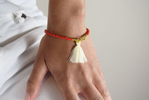 Beaded Tassel Friendship Bracelet - women's