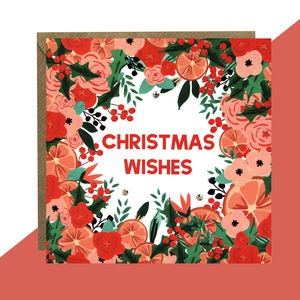 'Christmas Wishes' Card Pack Of Five Or Single