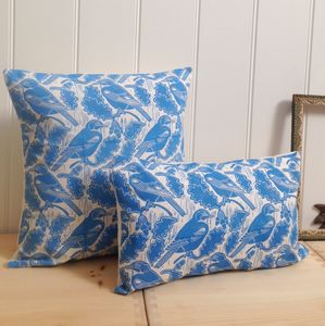 Jays And Acorns Cotton Cushions