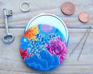 Isla Silk Covered Compact Mirror