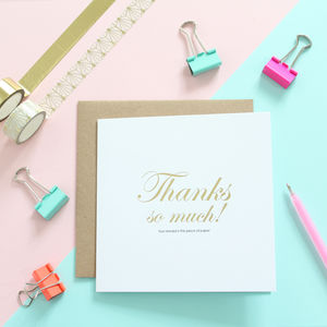 Thanks, Your Reward, Gold Foil Card - cards & wrap