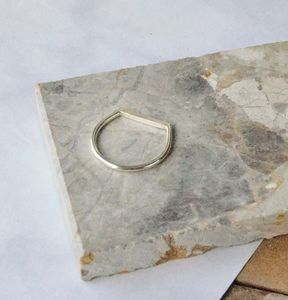 Silver Horizon Ring - contemporary jewellery