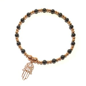 Rose Gold Hamsa Hand Bracelet - jewellery
