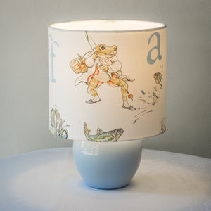 Beatrix Potter, Mr Jeremy Fisher™ Children's Lampshade - children's lighting