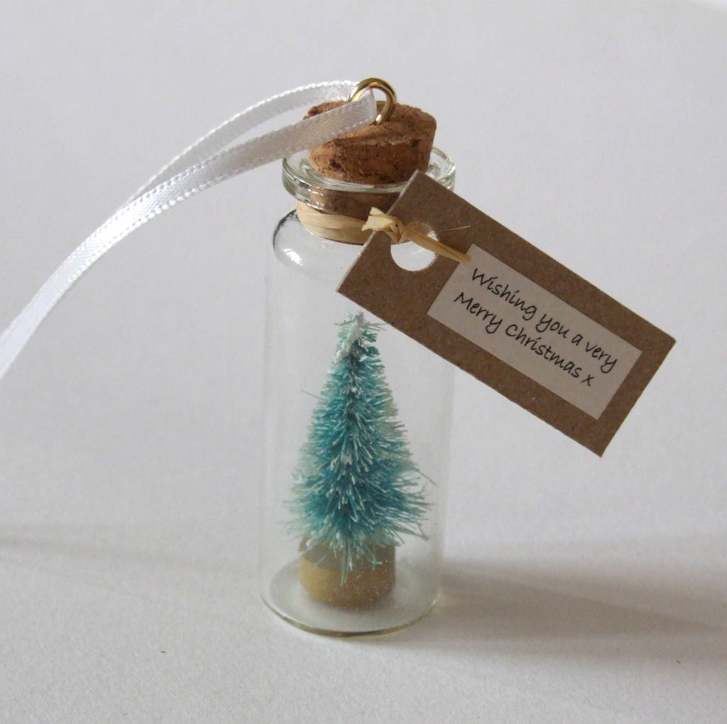 personalised christmas tree decoration tiny christmas tree gift