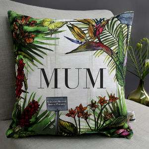 Personalised Tropical Botanical Cushion