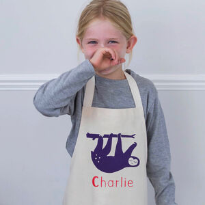 Personalised Sloth Apron