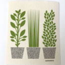 Green herb dishcloth