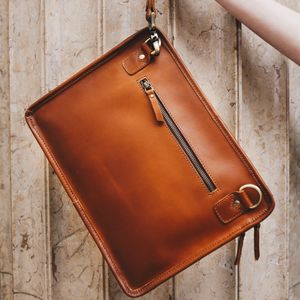 Leather iPad Bag Tablet Case And A4 Document Folio