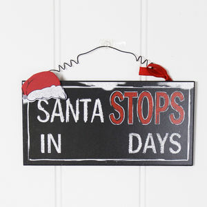 Christmas Countdown Board - signs