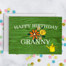 Gardening Birthday Card For Grandma Gran Nanny