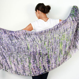 Ladies Lavender Fields Cashmere Scarf - new season scarves
