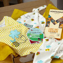 Baby Gift Box Three Piece Baby Outfit And Chocolate