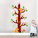 Foxes On Tree Growth Chart Wall Sticker Decal