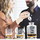 Personalised Couples Decanter And Glass Set