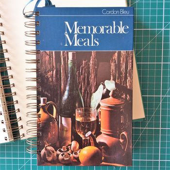 'Memorable Meals' Upcycled Notebook