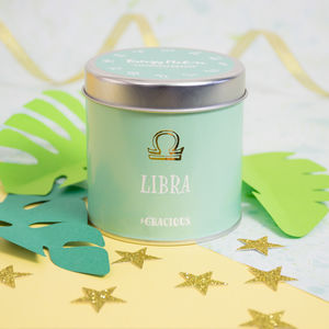 'Libra' Patchouli Orange Scented Tin Candle