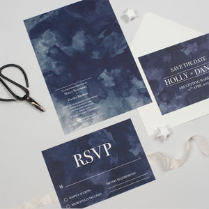 Turner Watercolour Wedding Invitation - wedding stationery