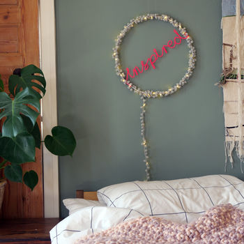 Personalised Pom Pom Fairy Light, Child Room Light