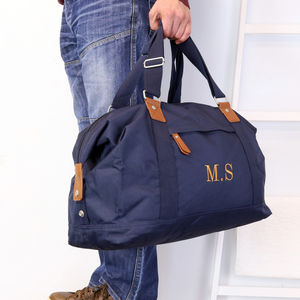 Personalised Vintage Holdall Bag - gifts for him