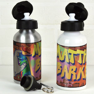 Personalised Graffiti Water Bottle - tableware