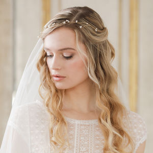 Pearl Wedding Hairvine - bridal hairpieces