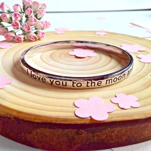 Engraved Sentiment Bangles