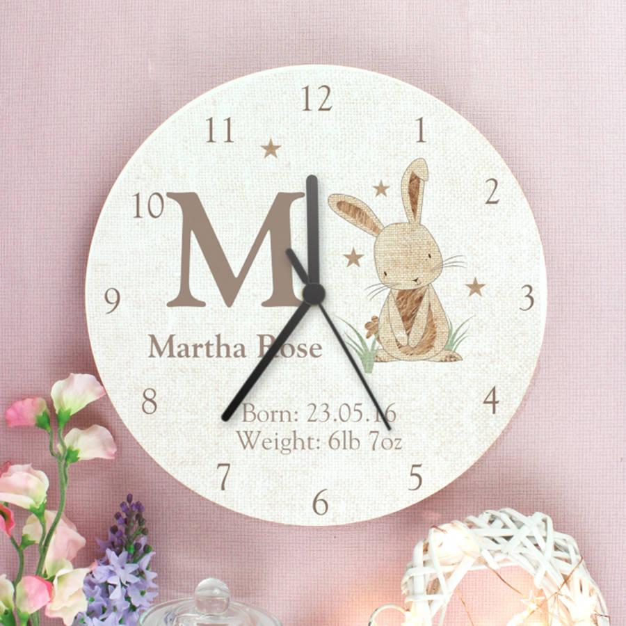 Personalised giraffe or rabbit design wooden clock by letteroom personalised giraffe or rabbit design wooden clock amipublicfo Image collections