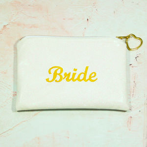 Embroidered Glitter Bride Clutch Bag - bags & purses