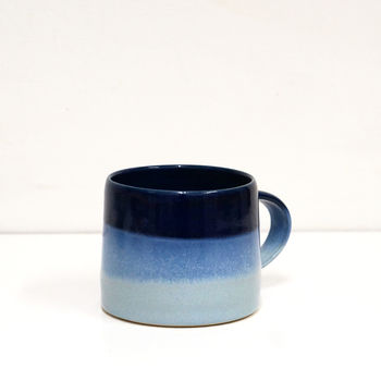 Handthrown Blue Ceramic Mug