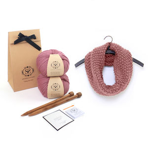 Make Your Own Beginner Mateusz Snood Knitting Kit - toys & games