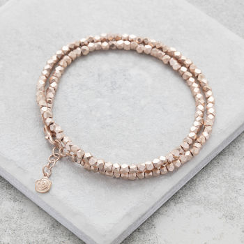 Rose Gold Nugget Wrap Bracelet