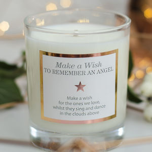 Remember An Angel Scented Candle - candles & candle holders