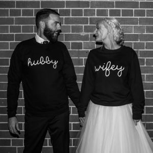 Wifey Hubby Couples Sweatshirt Jumper - gifts for couples