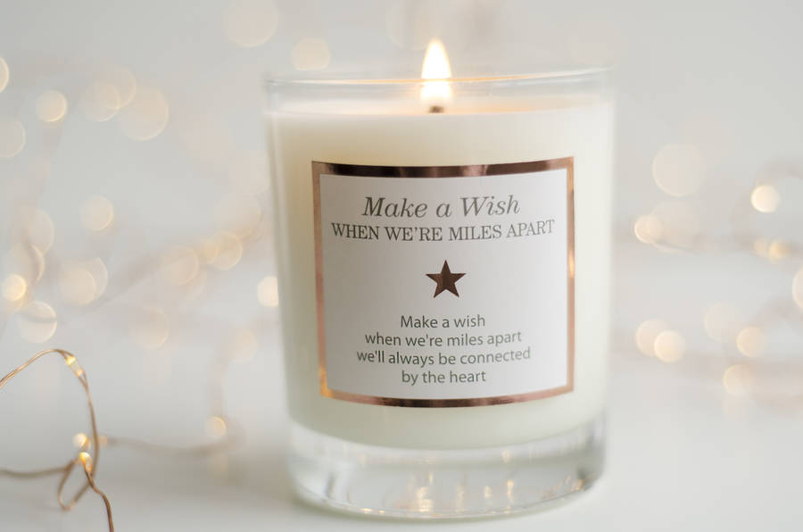 We Made A Wish And It Was You We Made: Miles Apart Scented Candle By Make A Wish Candle Company