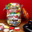'Gaming Treats' Personalised Retro Sweets Jar