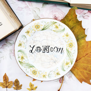 'London' Upcycled Vintage Tea Plate