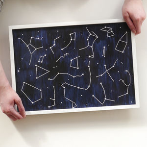 Painted Constellation A3 Stars Poster Print