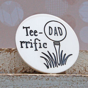 Teerrific Personalised Silver Golf Ball Marker - home accessories