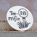 Teerrific Personalised Silver Golf Ball Marker
