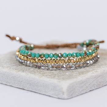 The Turquoise Crystal Bracelet