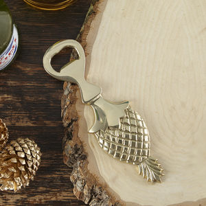 Brass Pineapple Bottle Opener - kitchen
