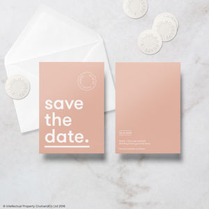 Modern Minimal Save The Date Cards With Envelope