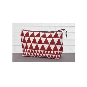 Alibag Large Triangle Wash Bag In Marsala - winter sale