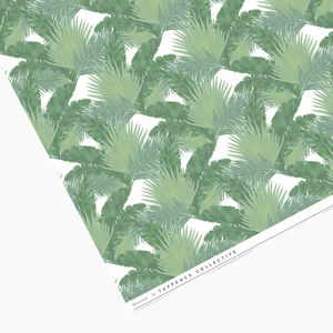 Green Tropical Palm Leaf Mix Wrapping Paper
